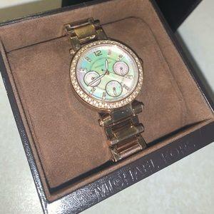 Opal/Pearl Michael Korda Watch